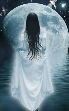 Into the light of the blue moon.