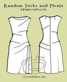 How do you plan your pattern making? Pattern Puzzle - Random Tucks and Pleats All my Pattern Puzzle posts have pattern plans to help you start and keep track of your changes. #PatternMakingClasses #PatternPuzzles #wellsuitedblog #studiofaro