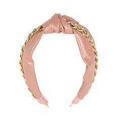 Patent Knotted Headband with Chain from KITSCH X Justine Marjan Other Accessories, Hair Accessories, Knot Headband, Knots, Dust Bag, Blush, Pairs, Chain, Detail
