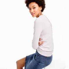 Italian cashmere button-back sweater