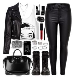 """""""Untitled #4440"""" by natalyasidunova ❤ liked on Polyvore featuring Yves Saint Laurent, Pull&Bear, Givenchy, David Yurman, Casetify, NYX, Edward Bess, Guerlain and Chanel"""