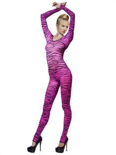 Zebra Bodysuit pink-schwarz, aus unserer Kategorie Kostümunterzieher Body. Ein stylischer Unterzieher, einfach genial für 80er Jahre Kostüme. Eine neue Disco-Queen ist geboren! Ein sensationelles Accessoire für Fasching und 80er Mottopartys.