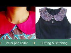 New baby kids dress peter pan Ideas Dress Neck Designs, Kurti Neck Designs, Collar Designs, Blouse Designs, Cotton Frocks For Kids, Collar Kurti, Sewing Collars, Sewing Blouses, Stitching Dresses