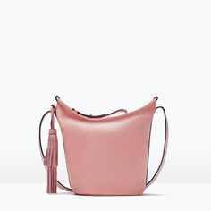 LEATHER BUCKET BAG WITH TASSEL-Bags-Woman-SHOES & BAGS | ZARA United States