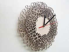 Giraffe clock  MEDIUM  laser cut wood  modern by AsymmetreeDesign, €71.00