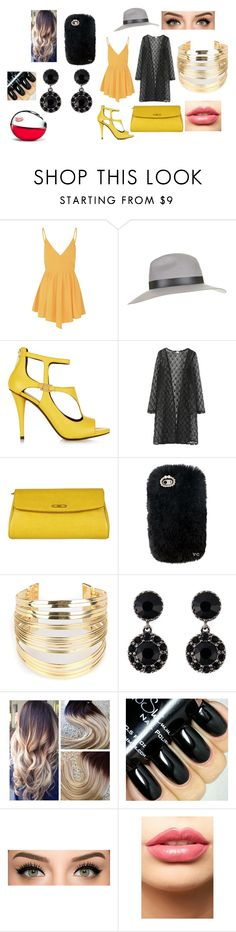 """""""Outfit Idea #20"""" by alliephil ❤ liked on Polyvore featuring Glamorous, Topshop, Pierre Balmain, Fendi, WithChic, Givenchy, LASplash and DKNY"""