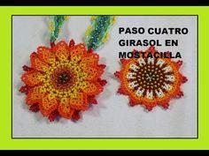 PASO CUATRO GIRASOL EN MOSTACILLA - YouTube Seed Bead Earrings, Beaded Earrings, Seed Beads, Crochet Earrings, Beaded Bracelets, Wire Crafts, Bead Crafts, Jewelry Patterns, Beading Patterns