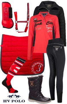 .HV Polo Winter Red Bonny #Epplejeck #hvpolo #red #redbonny #winter16