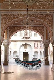 jaipur city palace. Why wasn't the hammock there when I visited this summer?
