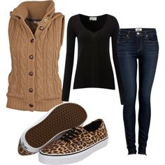 """""""Bonfire outfit"""" by imyours-now on Polyvore---I wouldn't wear that sweater. If wear a Columbia vest instead"""