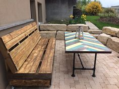 #PalletBench, #PalletTable, #RecycledPallet, #Terrace