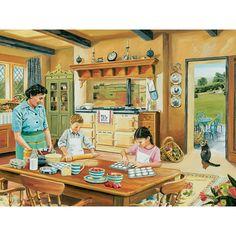 - Cottage Kitchen 300 Large Piece Jigsaw Puzzle