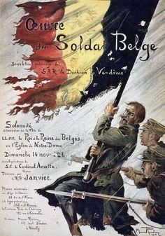 W13 Vintage WWI Belgium Belgian World War Poster WW1 re Print A1 A2 A3 A4   eBay