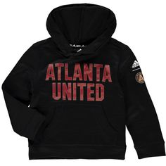 uk availability ed760 1aaf4 Preschool Atlanta United FC adidas Black Tactical Block Ultimate climawarm  Pullover Hoodie