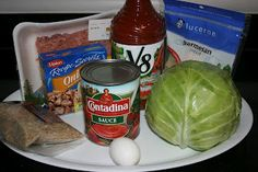 Cabbage Rolls in the crockpot!  I think I would try this with ground beef, add some garlic, mashed taters and gravy... yummy!