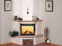 Marmorkamin 11/142 Corner Fireplace Tv Stand, Corner Fireplace Mantels, Corner Electric Fireplace, Home Fireplace, Front Door Design, Cottage Homes, Rustic Kitchen, Sweet Home, New Homes