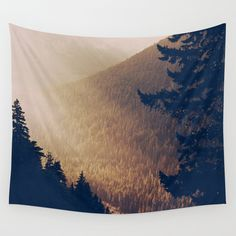 Sunrise in the Mountains  Wall Tapestry