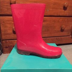 Pink Rain Boots Light weight pink boots. Size 3/4. Worn once. Capelli Shoes Winter & Rain Boots