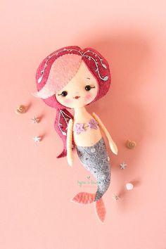 Mermaid Doll Mermaid Plush Toy Mermaid Toddler Gifts | Etsy