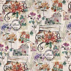 Gobelin Antique Flowers - Baumwolle - Polyester - Polyacryl - Farbmix