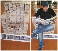 1000 Images About Newspaper Crafts On Pinterest