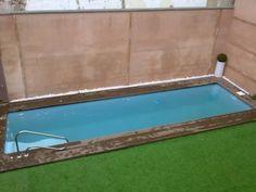 Estructura de piscina prefabricada con bloques de acero - Piscinas prefabricadas valencia ...
