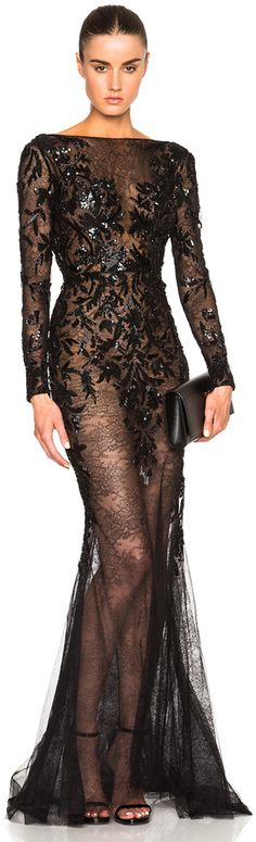 Zuhair Murad Embroidered Lace Gown