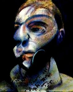 francis bacon, self-portrait ----// enlarge - engorge - some areas and diminish others for a more abstract feel