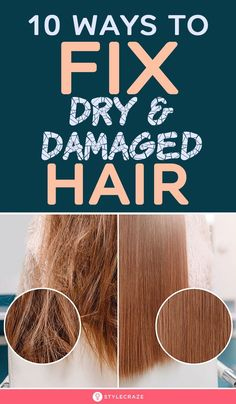 10 Awesome Ways To Identify And Fix Dry And Damaged Hair Diy Hair Treatment, Hair Treatments, Dry Brittle Hair, Hair Shrinkage, Natural Beauty Remedies, Damaged Hair Repair, Organic Beauty, Organic Makeup, One Hair