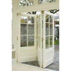 Folding doors to the outdoors.