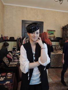 Vintage sequin hat & Romanian folk blouse Vintage Hats, Folk, Sequins, Blouse, Modern, Clothes, Ideas, Style, Fashion