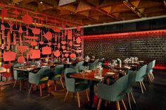Um projeto maravilhoso de um restaurante de Hotel.
