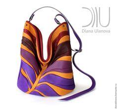 Купить Пальметта - разноцветный, абстрактный, шарф женский, шарф вязаный, красивый шарф, фиолетовый