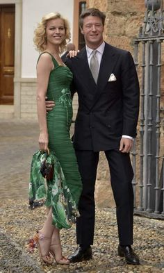 Czech model Eva Herzigova was amongst the guests at the lavish wedding ceremony.