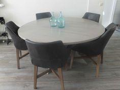 ronde grenen eettafel - Blankhout Meubelhal