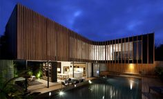 Еxciting dwelling  timber facade modern dwelling