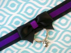Black and Purple, Kitten Play Collar, Tug Proof Collar, Black Collar, BDSM Collar, Ribbon Collar, Submissive Collar, DDLG Collar, Gothic by CurioCollars on Etsy https://www.etsy.com/ca/listing/272197914/black-and-purple-kitten-play-collar-tug