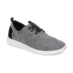 Women's Toms Del Ray Sneaker (1,705 MXN) ❤ liked on Polyvore featuring shoes, sneakers, black, lightweight shoes, suede leather shoes, lightweight sneakers, black trainers and suede sneakers