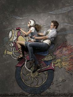 Beautiful Mixture of Illustration and Photo Manipulation