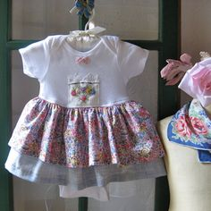 Baby Girl Pink Floral Liberty of London Dress 6 to by JackieSpicer, $28.00