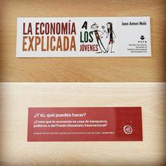 Punto de libro de 'La economía explicada a los jóvenes' (Puck) de Joan Antoni Melé #economía #jóvenes