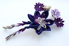 most complicated kanzashi I made yet!