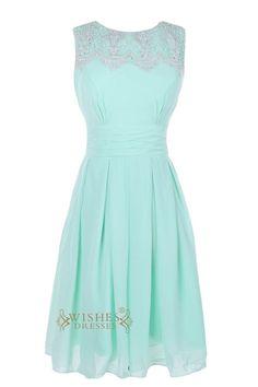 Lace Top Detail Dark Navy Chiffon Short Bridesmaid Dresses/ Short Prom Dresses Am19