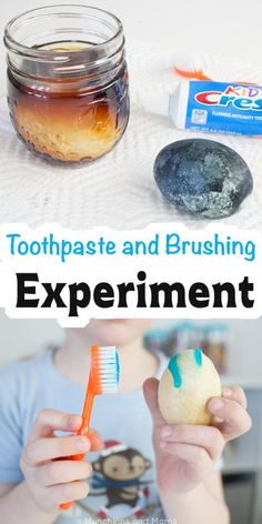 Teach kids about oral health with this toothpaste and brushing experiment! Perfe… Teach children the oral health with this toothpaste and brush experiment! Perfect for National Childrens Dental Health Month and Preschool Community Aid (Dentist) topics! Dental Health Month, Oral Health, Health Care, Dental Kids, Children's Dental, Dental Surgery, Routine, Community Helpers Preschool, Health Activities