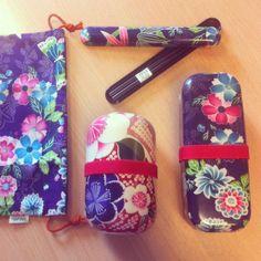 Kimono bento boxes kit. http://en.bentoandco.com/collections/bento-boxes/kimono