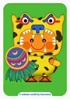 Jaguar Warrior (Aztec) by karumina illustration