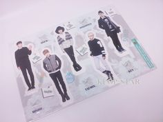 SHINEE Standing Paper Doll Korean Pop Star KPOP K POP K-POP Paper Doll