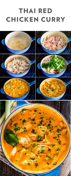 The flavorful dinner combinations for Thai food have no limits. This recipe for Thai Red Chicken Curry is the perfect for showcasing bold flavor on your dinner table. Grab garlic, ginger root, chicken breast, coconut milk, red curry paste, snow peas, lime leaves, lemon grass stalks, and fresh cilantro and let's get cooking.