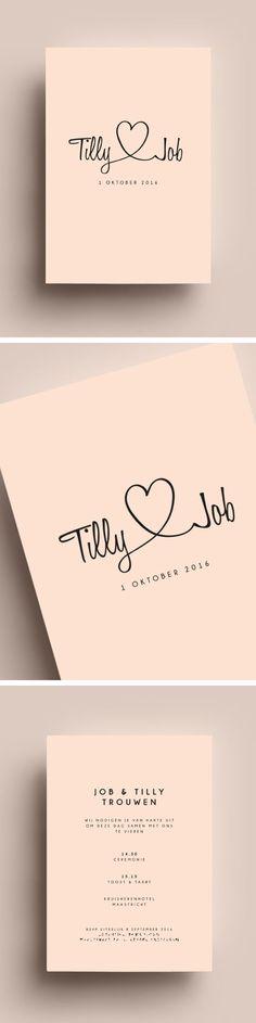 Trouw // pink // roos // pastel // love // hartje // namen // I do I do // mosstudio