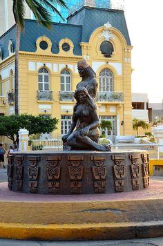 Colombia - Escultura Tayrona, bahía de   Santa Marta, Magdalena.
